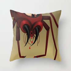 Travel by spider Throw Pillow