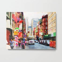 Chinatown in New York Metal Print