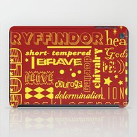 gryffindor iPad Cases featuring Gryffindor by husavendaczek