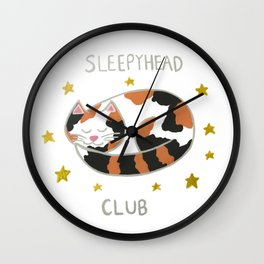 Sleepyhead Club Wall Clock