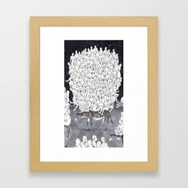 A Funny Donkey Ride Framed Art Print