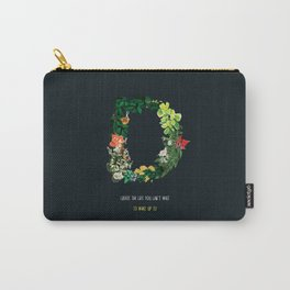 Dream Floral Motivational Quote Carry-All Pouch