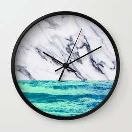 Marble Ocean iPhone Case and Throw Pillow Design Wall Clock