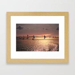 Sunset Sail In Bermuda Framed Art Print