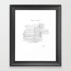 Falls in eternity Framed Art Print