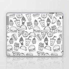 Fast Food Monoline Doodles Laptop & iPad Skin