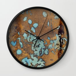 Copper Raindrops Wall Clock