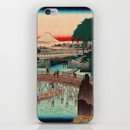 Vintage Woodblock - Ikkoku Bridge Japan iPhone Skin