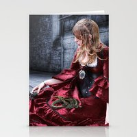 mother of dragons Stationery Cards featuring mother of dragons by YattaGiulia
