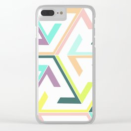 Pastel arrow pink overlay Clear iPhone Case
