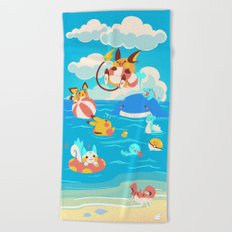 Splash Attack Beach Towel