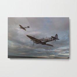 126 Squadron Spitfires Metal Print