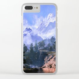 Our beloved mountains Clear iPhone Case