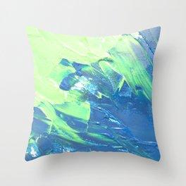 Blue & Green, No. 3 Throw Pillow