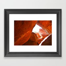 Through the Looking HOLE Framed Art Print
