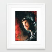 benedict Framed Art Prints featuring Benedict C. by Wisesnail