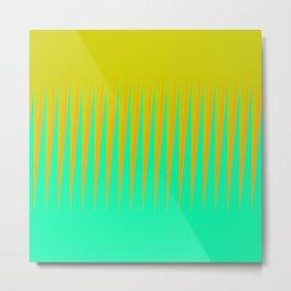 Lime Citrus Diagonal Slant Metal Print