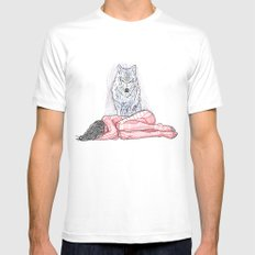 Wolf and I MEDIUM Mens Fitted Tee White
