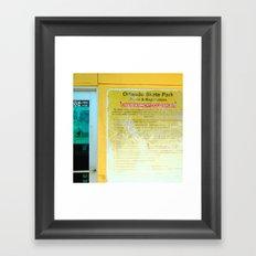 #HAZARDOUS SPORT - SKATE PARC ORLANDO, USA by Jay Hops Framed Art Print
