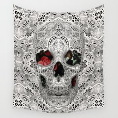 Lace Skull Light Wall Tapestry