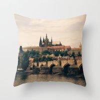 prague Throw Pillows featuring Prague by maisie ong