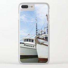 McClellanville Shrimpers Clear iPhone Case