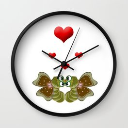 Caterpillars's Love Wall Clock