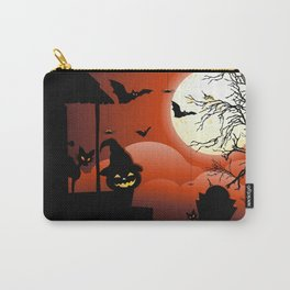 Halloween on Bloody Moonlight Nightmare Carry-All Pouch