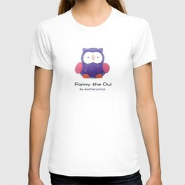 Fanny the owl by leatherprince T-shirt