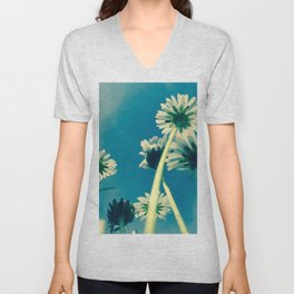 #little #beautiful #daisys for #Freedom of #Summer Unisex V-Neck