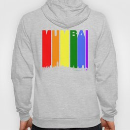Mumbai India Gay Pride Rainbow Skyline Hoody