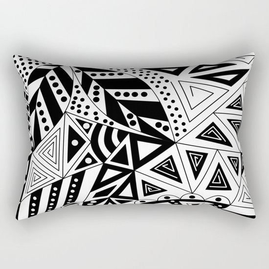 Black and white abstract pattern. Rectangular Pillow