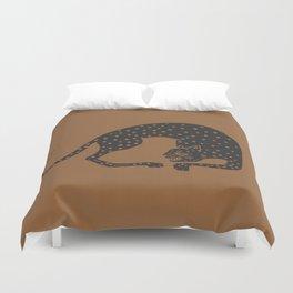 Blockprint Cheetah Duvet Cover