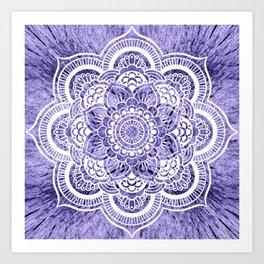 Mandala Lavender Colorburst Art Print
