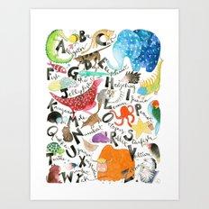 English Alphabet Art Print