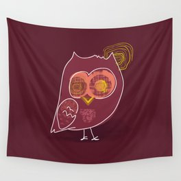 Hypnotic owl in the moonlight Wall Tapestry