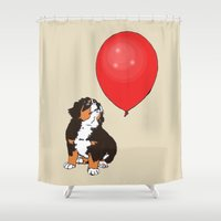 balloon Shower Curtains featuring Balloon by Meredith Mackworth-Praed