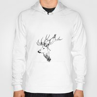 stag Hoodies featuring stag by oslacrimale