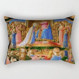 "Fra Angelico (Guido di Pietro) ""Coronation of the Virgin"" (Louvre) 1434-1435 Rectangular Pillow"