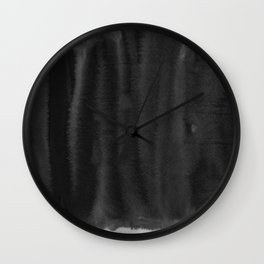 Black Ink Art No 5 Wall Clock