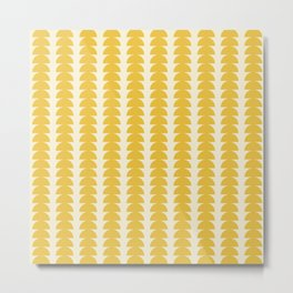 Maude Pattern - Golden Metal Print