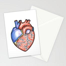 """Semi- anatomically c0rrect Heart"" Stationery Cards"