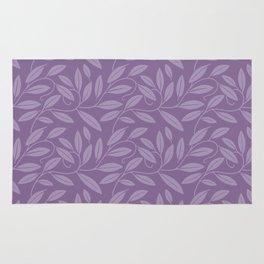 Purple Leaves Rug