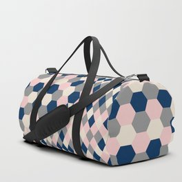 Honeycomb Blush and Grey Duffle Bag