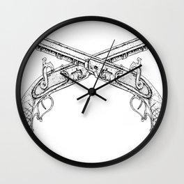 Old Pistols Wall Clock