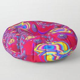 Red Eyes Fractal by Amanda Martinson Floor Pillow