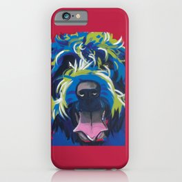 Blue Dog Wirehaired Griffon iPhone Case