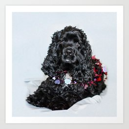 Valentine Puppy Photography Print Art Print
