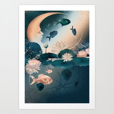 Lake sleeps Art Print