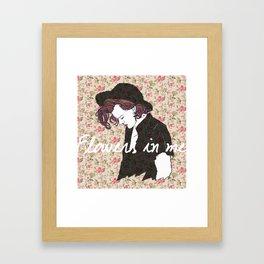 Flowers in Me Framed Art Print